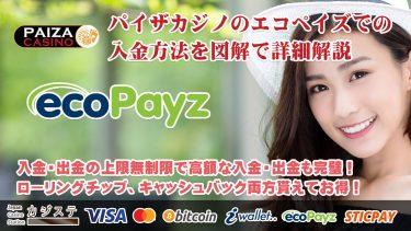 パイザカジノのecopayz(エコペイズ)の入金方法、手数料、入金上限を図解で詳細解説